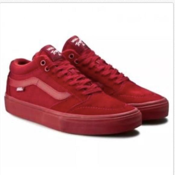 45ba64fe663c87 Vans TNT SG Red Dahlia Skate Shoes. M 5a939a5d5512fd044f4f90ff